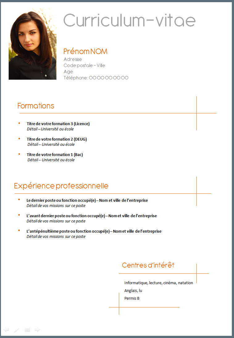 resume template  november 2015